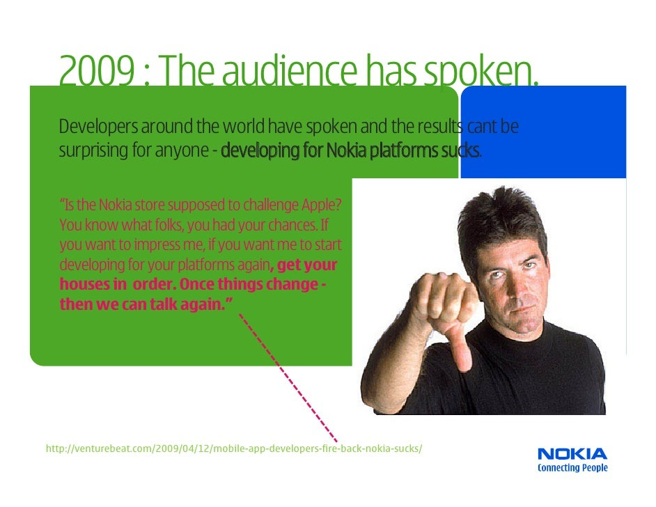 2009 : The audience has spoken.   Developers around the world have spoken and the results cant be   surprising for anyone ...