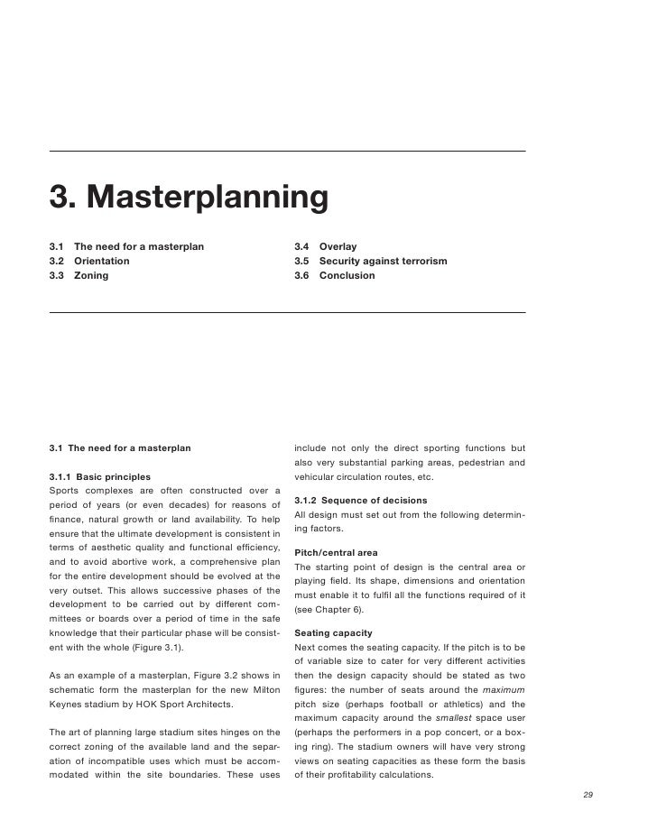 3. Masterplanning 3.1   The need for a masterplan                          3.4   Overlay 3.2   Orientation                ...