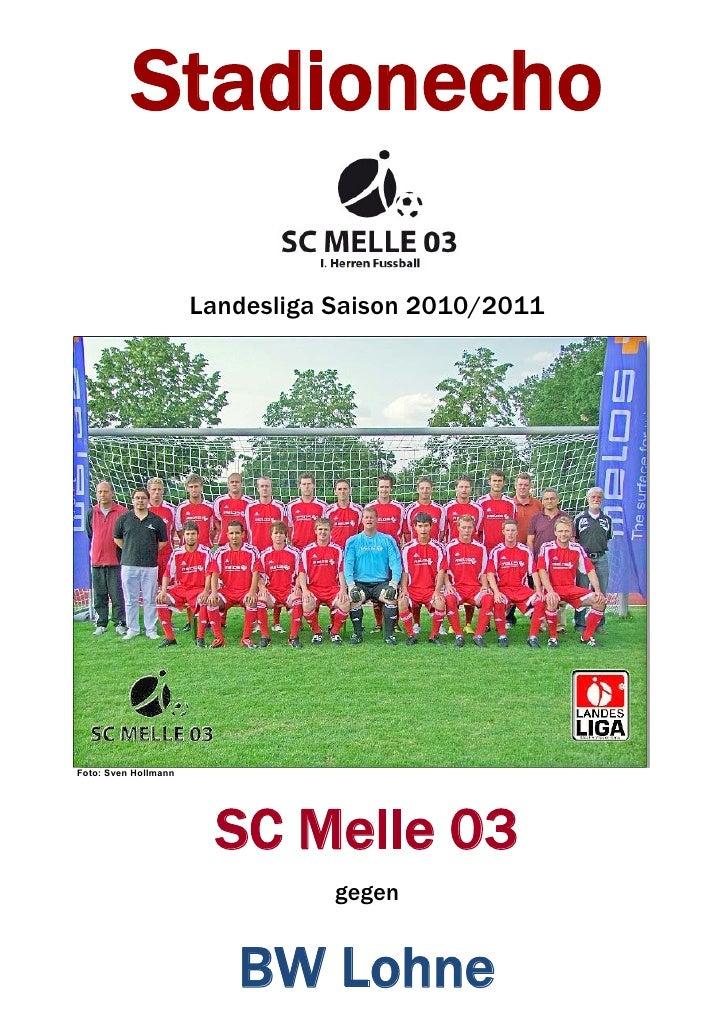 Stadionecho 10. Spieltag SC Melle 03 gegen TuS BW Lohne Landesliga Weser-Ems