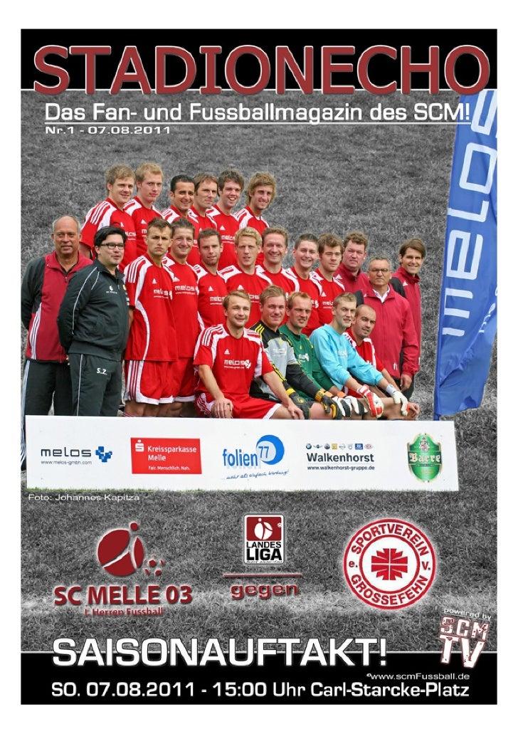 Stadionecho SC Melle 03 gegen SV Grossefehn - Fußball Landesliga Weser-Ems