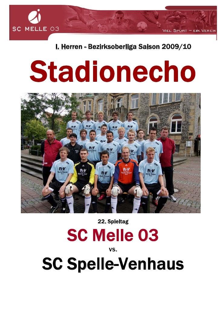 I. Herren - Bezirksoberliga Saison 2009/10    Stadionecho                  22. Spieltag      SC Melle 03                  ...