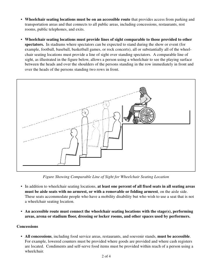 Us Access Board Stadium Accessibility Guidelines