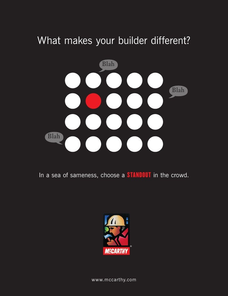 What makes your builder different?                        Blah                                                 Blah       ...
