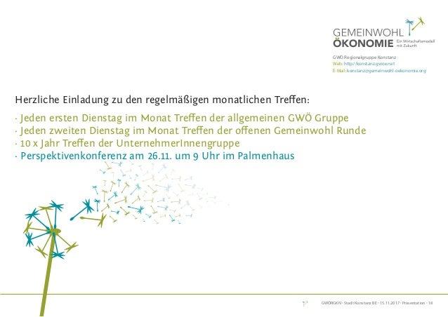 GWÖRGKN · Stadt Konstanz BE · 15.11.2017 · Präsentation · 18 DeR weG ZUR Gemeinwohl-BilAnZ informationen zu Bilanz, Beratu...