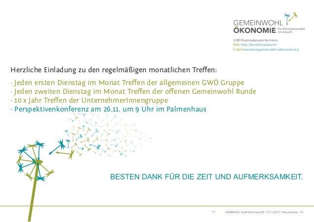 GWÖRGKN · Stadt Konstanz BE · 15.11.2017 · Präsentation · 19 DeR weG ZUR Gemeinwohl-BilAnZ informationen zu Bilanz, Beratu...