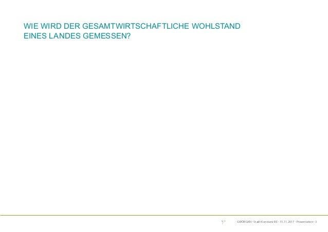 GWÖRGKN · Stadt Konstanz BE · 15.11.2017 · Präsentation · 3 Wie wird der gesamtwirtschaftliche Wohlstand eines Landes geme...
