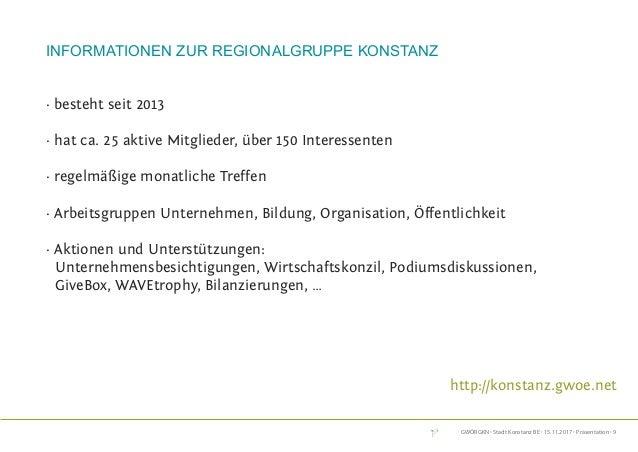 GWÖRGKN · Stadt Konstanz BE · 15.11.2017 · Präsentation · 9 Informationen zur Regionalgruppe Konstanz · besteht seit 2013 ...