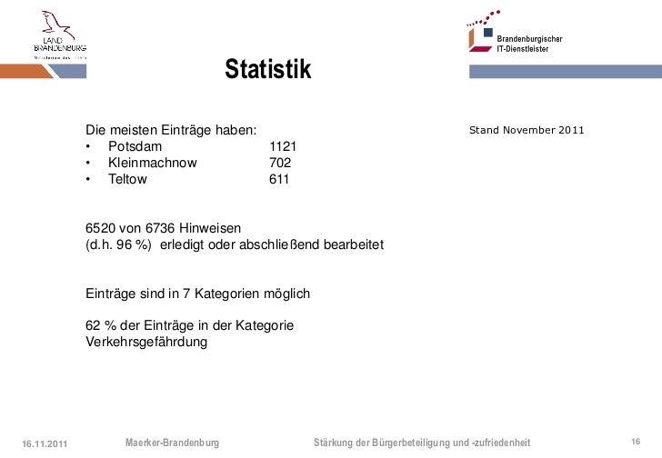 Statistik             Die meisten Einträge haben:                                                Stand November 2011      ...
