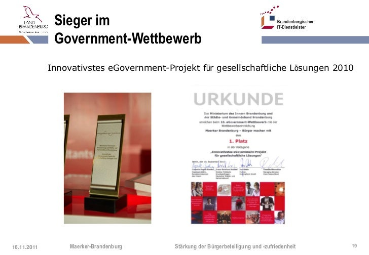 Sieger im              Government-Wettbewerb             Innovativstes eGovernment-Projekt für gesellschaftliche Lösungen ...