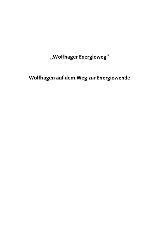 """,,Wolfhager Energieweg""""Wolfhagen auf dem Weg zur Energiewende"""