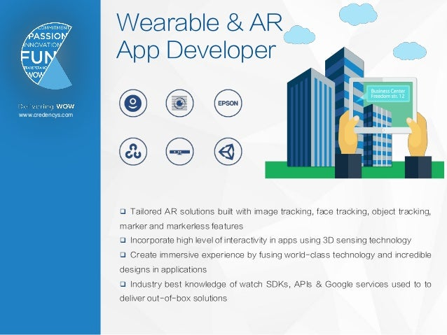 www.credencys.com Wearable & AR App Developer  Tailored AR solutions built with image tracking, face tracking, object tra...