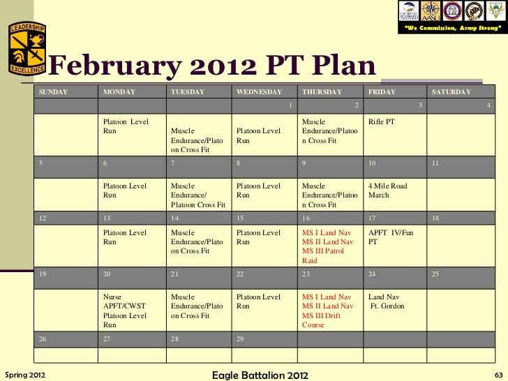 63 February 2012 PT Plan