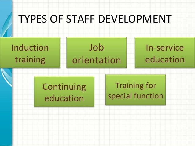 staff training and development pdf