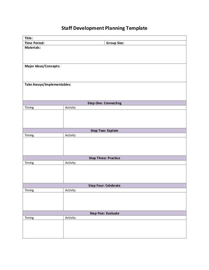 Staff development planning template