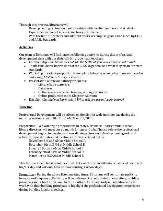 Staff Development Proposal Doc