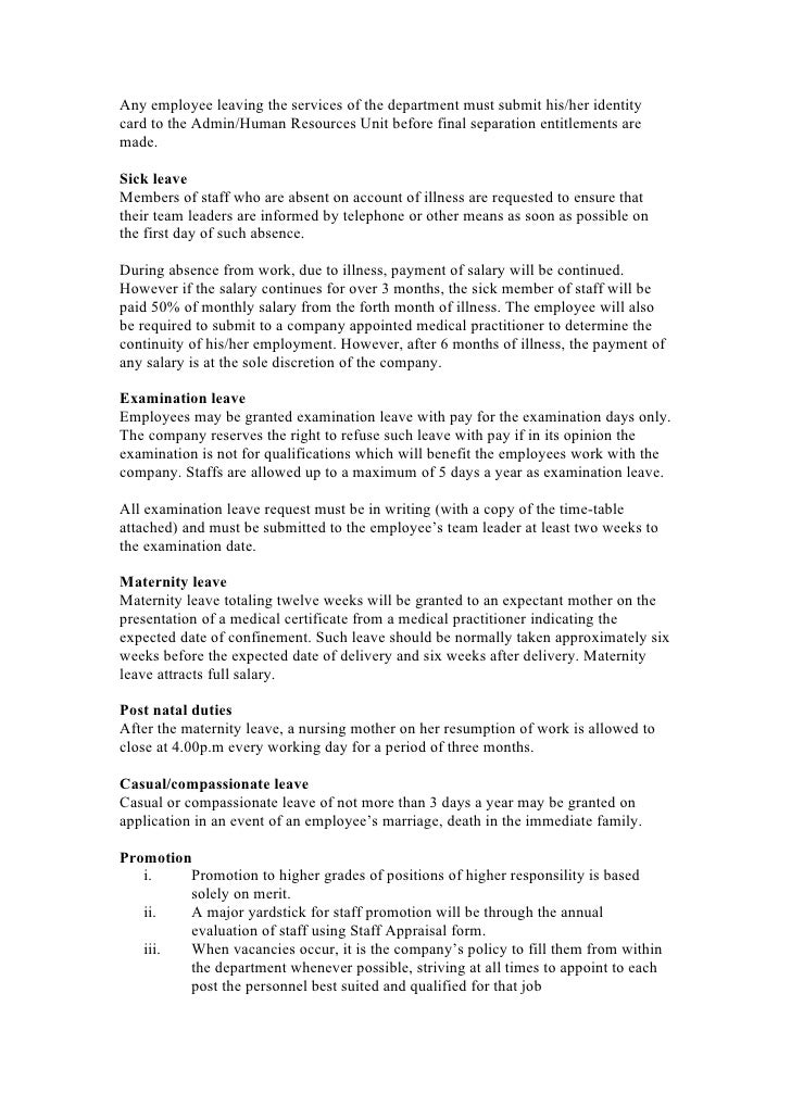 Staff handbook proposal – Employment Proposal Templates