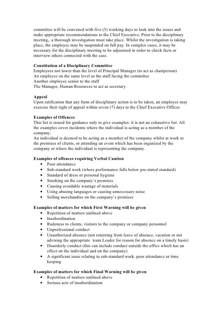 Staff handbook proposal