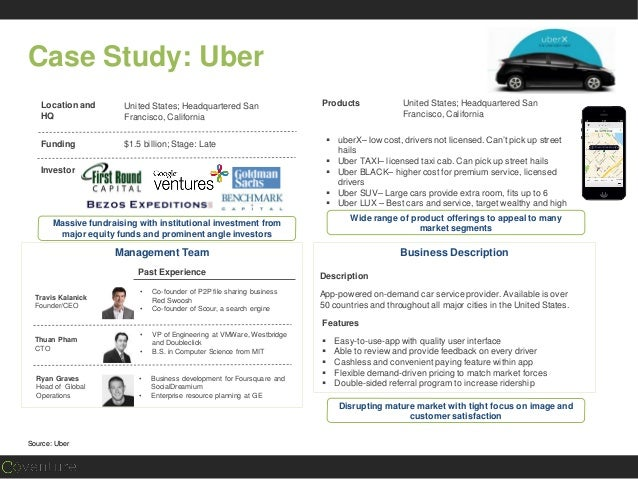 case study of uber Chicago: an uber case study introduction | 02 until recently, many residents of chicago lacked safe, reliable, and hassle-free access to for-hire transportation.