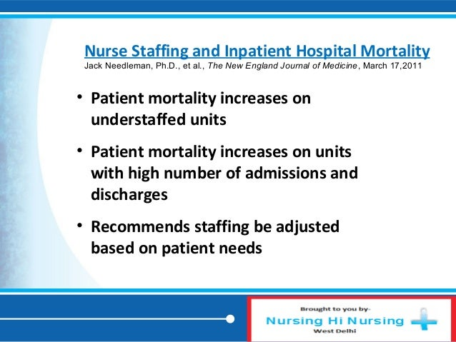 the effects of staffing levels on With health care costs rising, increased attention has been paid to the human resource practices of hospitals this chapter examines the effects that staffing levels.
