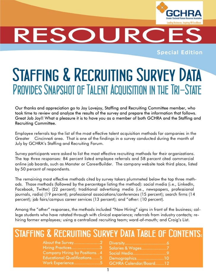 Staffing & Recruiting Survey DataProvides Snapshot of Talent Acquisition in the Tri-StateEmployee referrals top the list o...