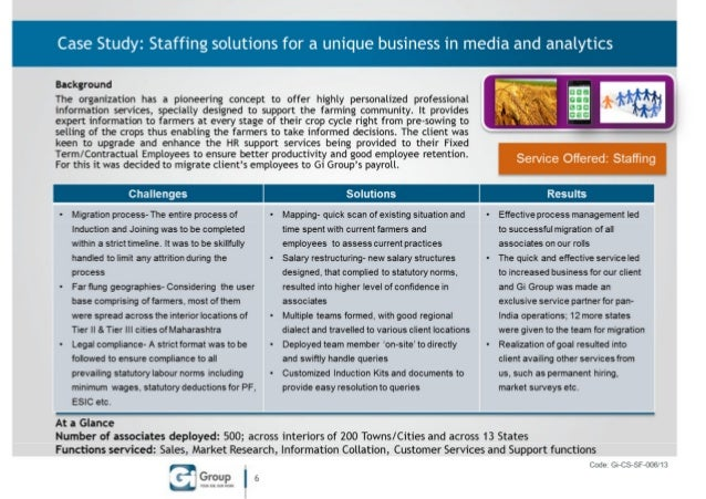 Staffing solutions for a media & analytics client