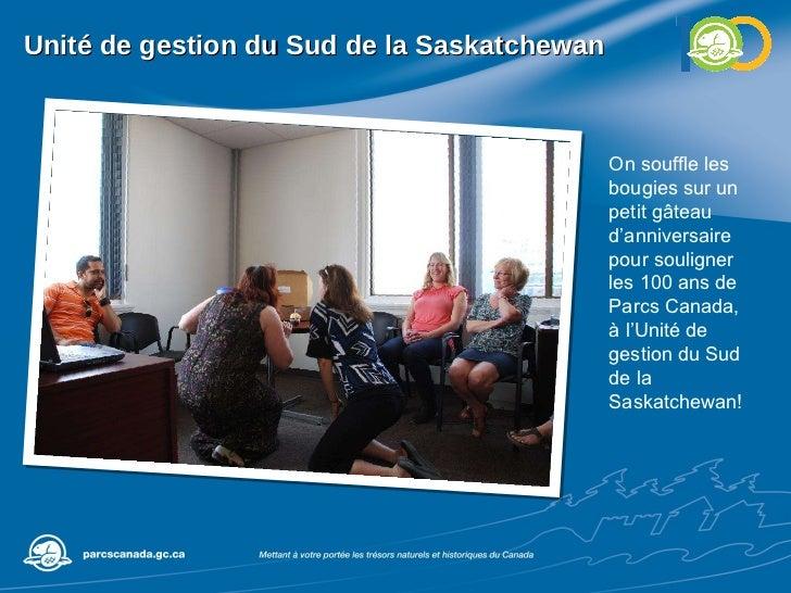 Unité de gestion du Sud de la Saskatchewan On souffle les bougies sur un petit gâteau d'anniversaire pour souligner les 10...