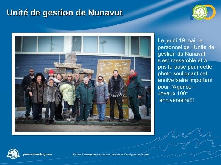 Unité de gestion de Nunavut Le jeudi 19 mai, le personnel de l'Unité de gestion du Nunavut s'est rassemblé et a pris la po...