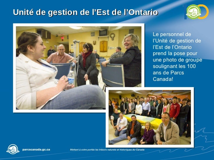 Unité de gestion de l'Est de l'Ontario Le personnel de l'Unité de gestion de l'Est de l'Ontario prend la pose pour une pho...