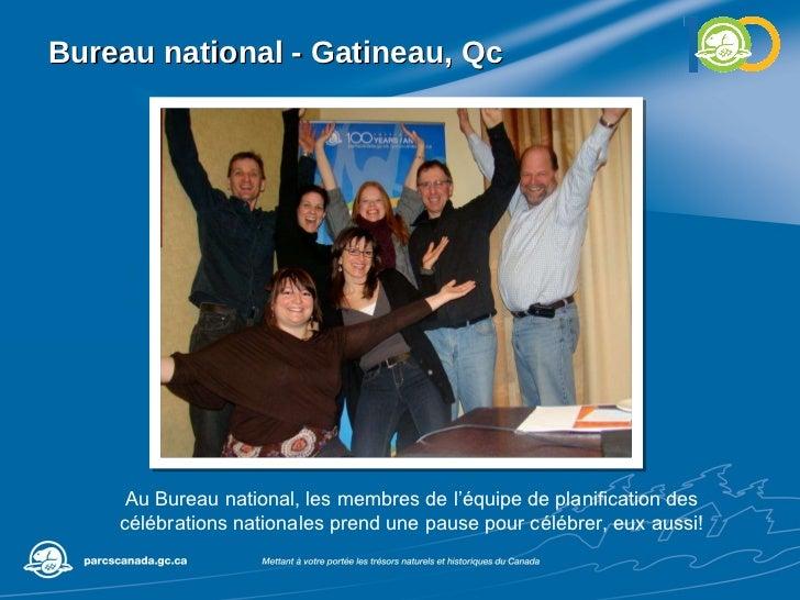 Bureau national - Gatineau, Qc Au Bureau national, les membres de l'équipe de planification des célébrations nationales pr...