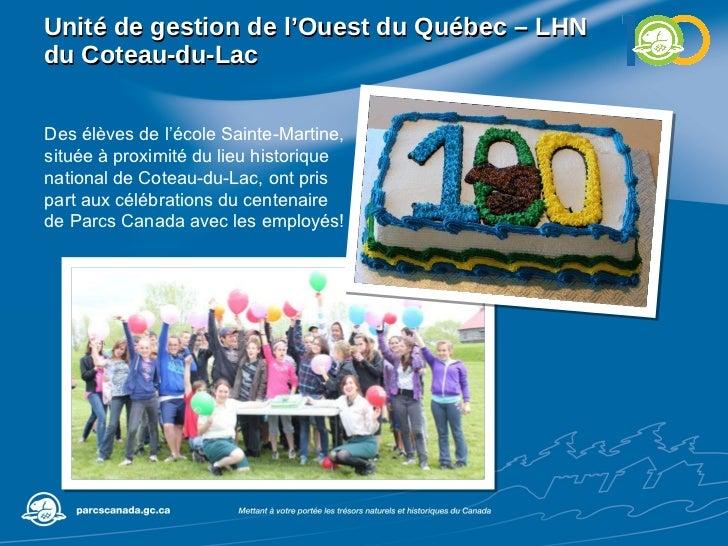 Unité de gestion de l'Ouest du Québec – LHN du Coteau-du-Lac Des élèves de l'école Sainte-Martine, située à proximité du l...