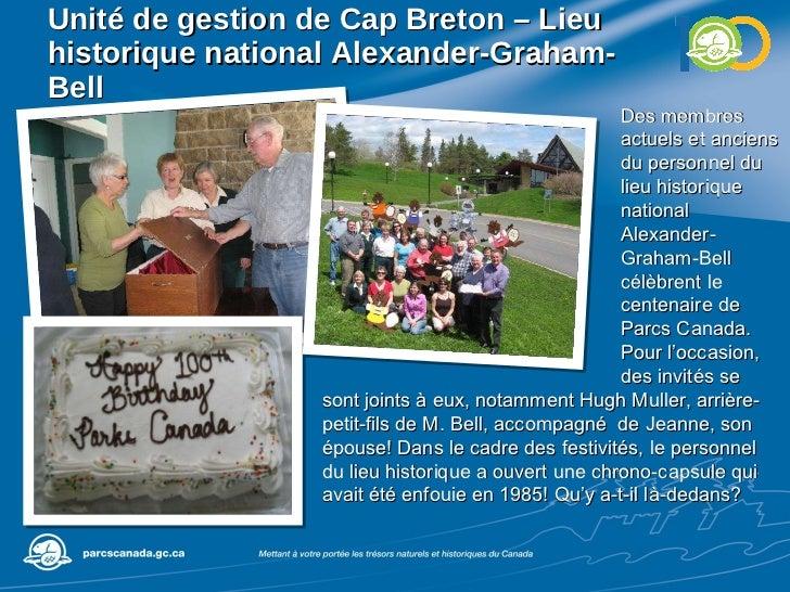 Unité de gestion de  Cap Breton – Lieu historique national Alexander-Graham-Bell Des membres actuels et anciens du personn...