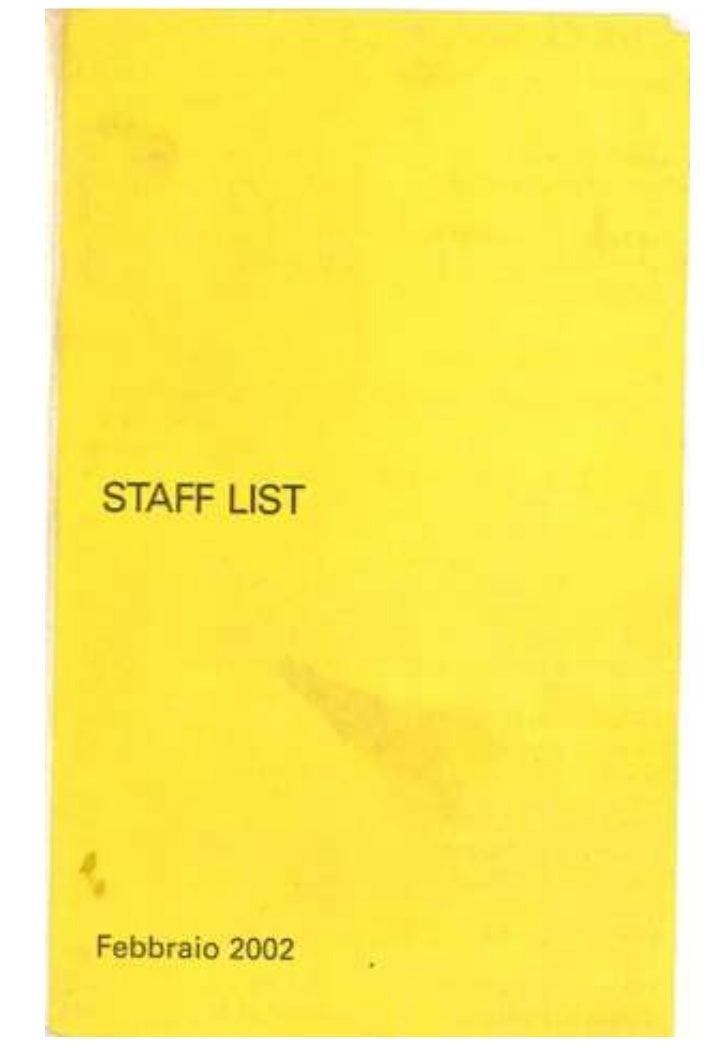 Stafflist DDB Milano 2002