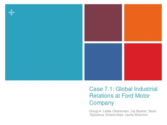 case study on ford and motor Alom helps ford improve myford touch with critical update information for  connectivity systems  ford motor company customer case study.