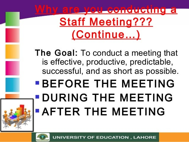 Staff Meeting (School Meeting)