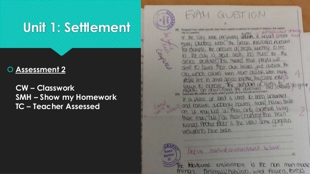 Our iGCSE is set up to increase our  accuracy in MEGs  Assessment  Increasing accuracy over Settlement Unit  1 –  SMH/PA/T...