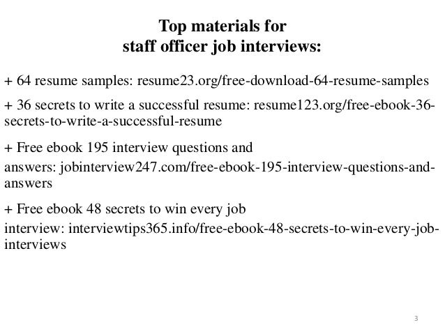 Staff Officer Resume Sample Pdf Ebook Free Download