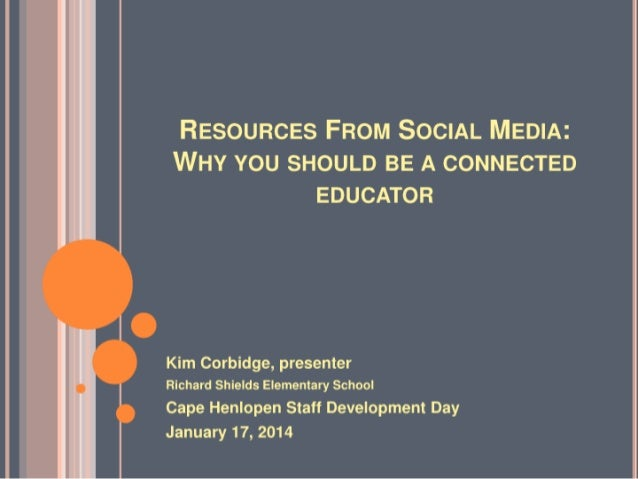 Resources From Social Media: Why you should be a connected educator
