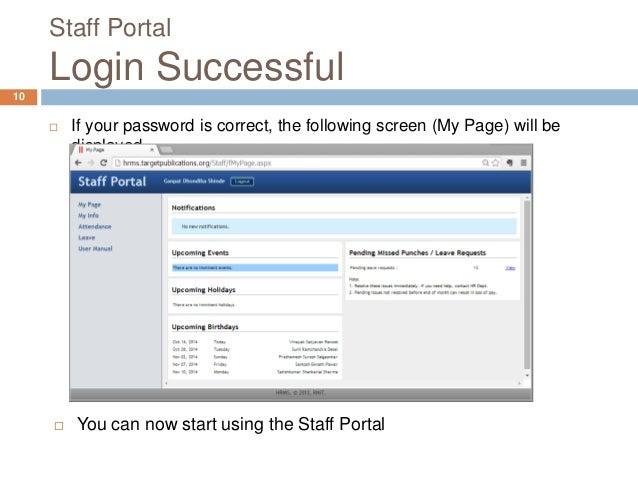 HRMS Staff Portal User Manual