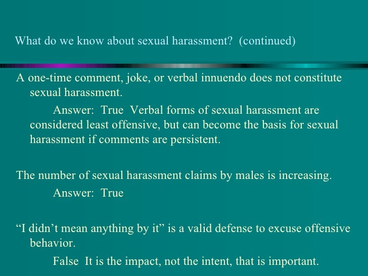 What is considered sexual harassment photo 67