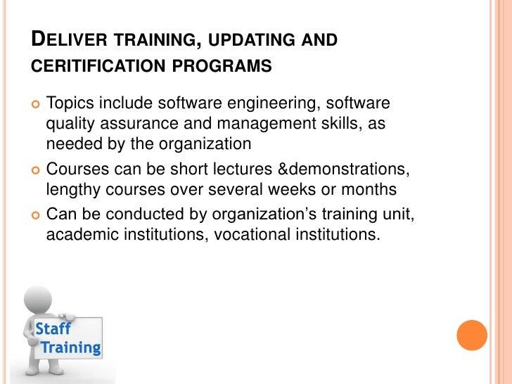 Staff training & certification