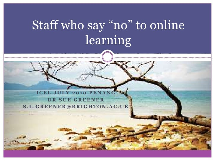 """Staff who say """"no"""" to Technology Enhanced Learning"""