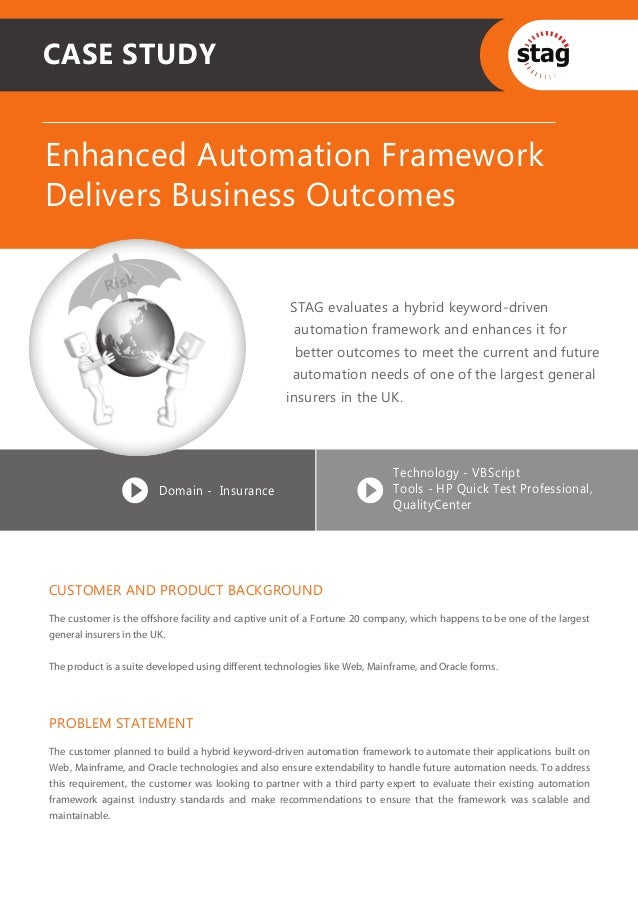 CASE STUDYEnhanced Automation FrameworkDelivers Business Outcomes            Risk                                         ...