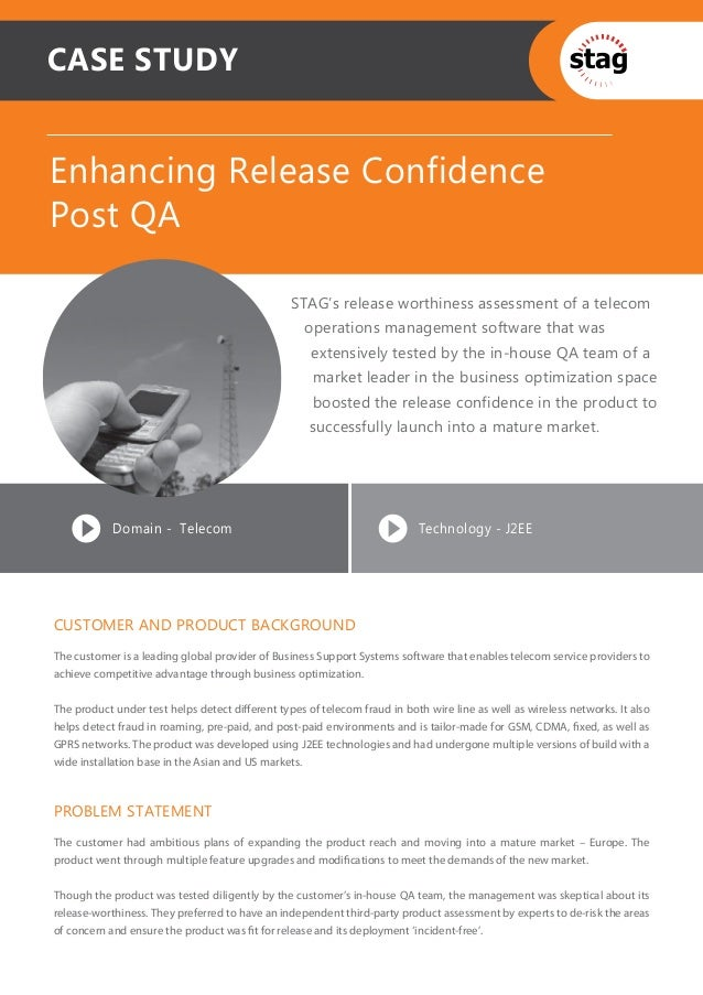 CASE STUDYEnhancing Release ConfidencePost QA                                                 STAG's release worthiness as...