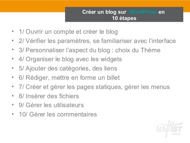 cr u00e9er un blog sur wordpress