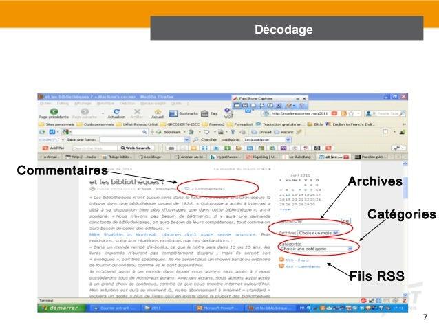 URFIST Rennes, 2011  7  Archives  Catégories  Fils RSS  Commentaires  Décodage
