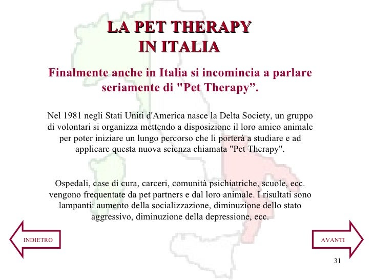 """Finalmente anche in Italia si incomincia a parlare seriamente di """"Pet Therapy"""". Nel 1981 negli Stati Uniti d'America ..."""
