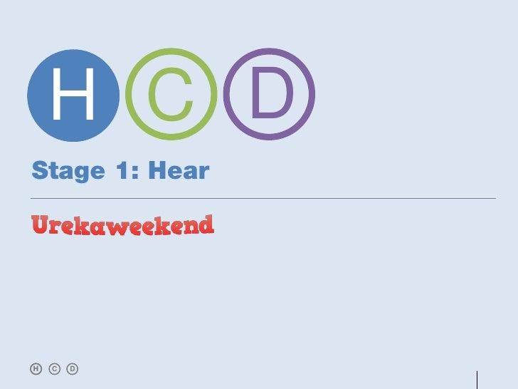 H C DStage 1: HearH   C   D