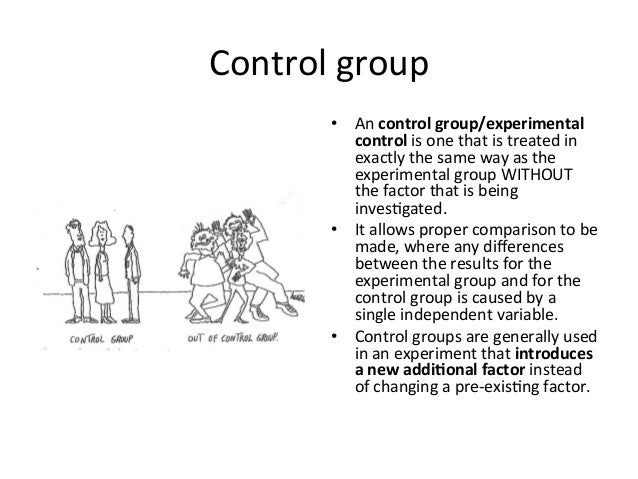 Control Group Science Wild Anal