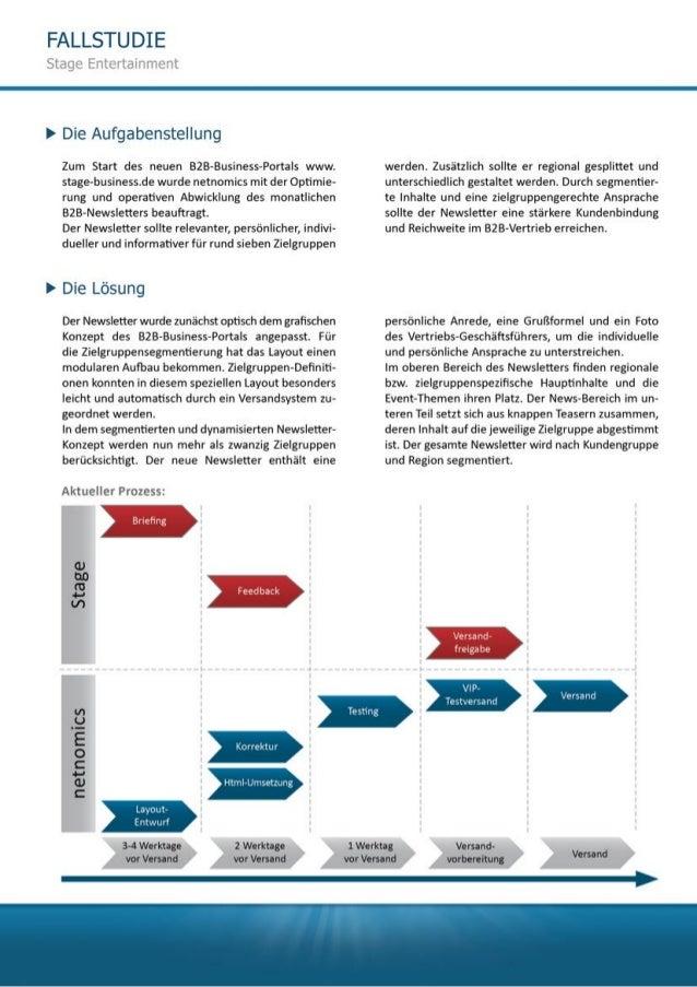B2B Segmentierung und Dynamisierung Stage Entertainment Slide 2