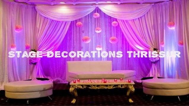 wedding stage decorations thrissur - Stage Decorations